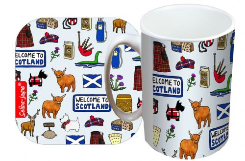 Selina-Jayne Scotland Limited Edition Designer Mug and Coaster Set